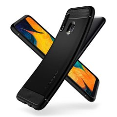 Чехол Spigen для Galaxy A30 Rugged Armor, Matte Black, цена | Фото