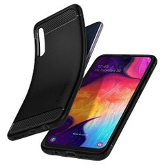 Чехол Spigen для Galaxy A50 Case Rugged Armor Matte Black, цена | Фото