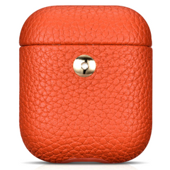 Кожаный чехол для AirPods iCarer Hermes Leather Case - Red (IAP040-R), цена | Фото