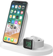 Док-станция Belkin Qi Wireless iWatch (1A), iPhone (7.5W), 5W/1A, white, цена | Фото