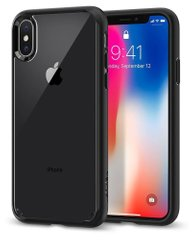 Чехол Spigen iPhone X / XS Case Ultra Hybrid - Matte Black, цена | Фото