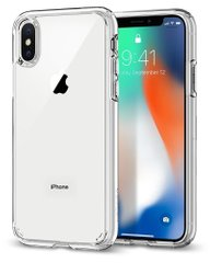 Чехол Spigen iPhone X / XS Case Ultra Hybrid - Crystal Clear, цена | Фото