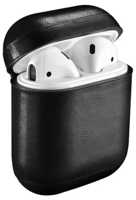 Кожаный чехол для AirPods iCarer Vintage Leather Case - Black (IAP001-BK), цена | Фото