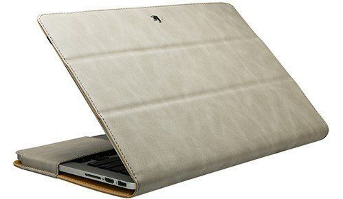 Чехол JisonCase Leather Stand for MacBook Pro 13 (2016-2018) - Brown (JS-PRO-13R20), цена | Фото