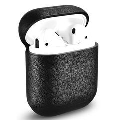 Кожаный чехол для AirPods iCarer Nappa Leather Case - Black (IAP019-BK), цена | Фото