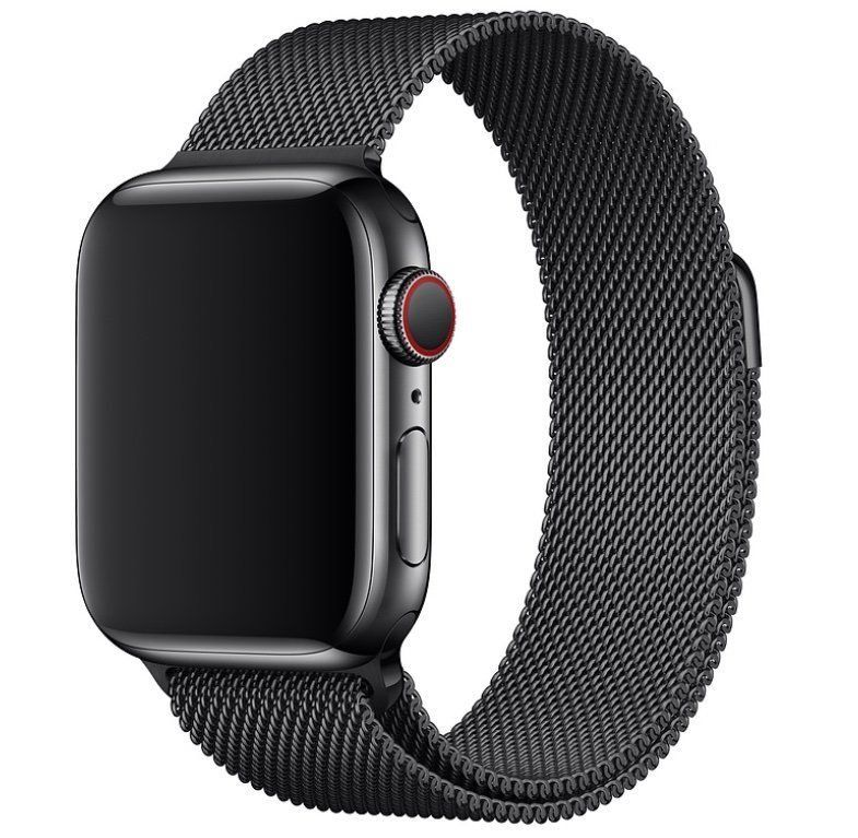Ремешок STR Milanese Loop Band for Apple Watch 38/40 mm - Space Black