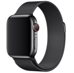 Ремешок STR Milanese Loop Band for Apple Watch 38/40 mm - Space Black, цена | Фото