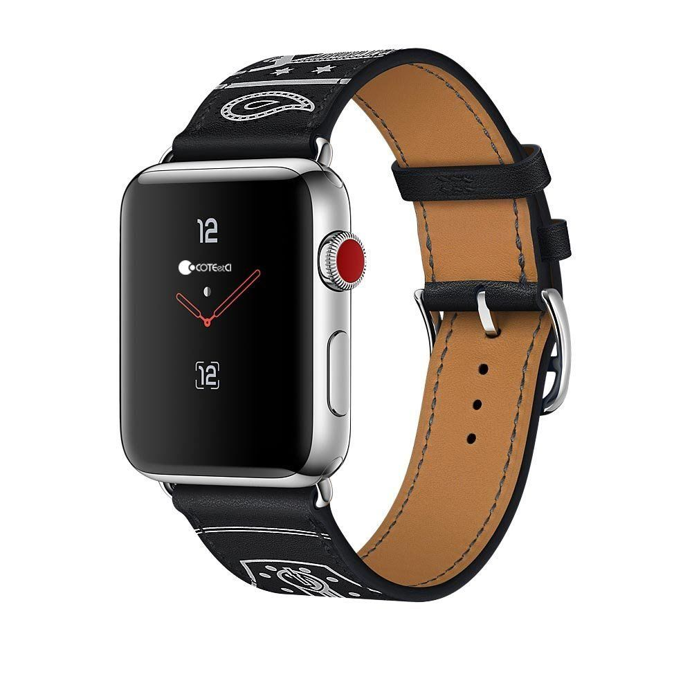 Ремешок COTEetCI Fashion W13 Leather for Apple Watch 38/40mm Black (WH5218-BK)